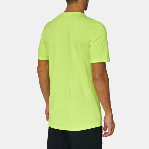 b8890a32bc0ae Shop Yellow Nike Breathe Hyper Dry Training T-Shirt for Mens by Nike ...