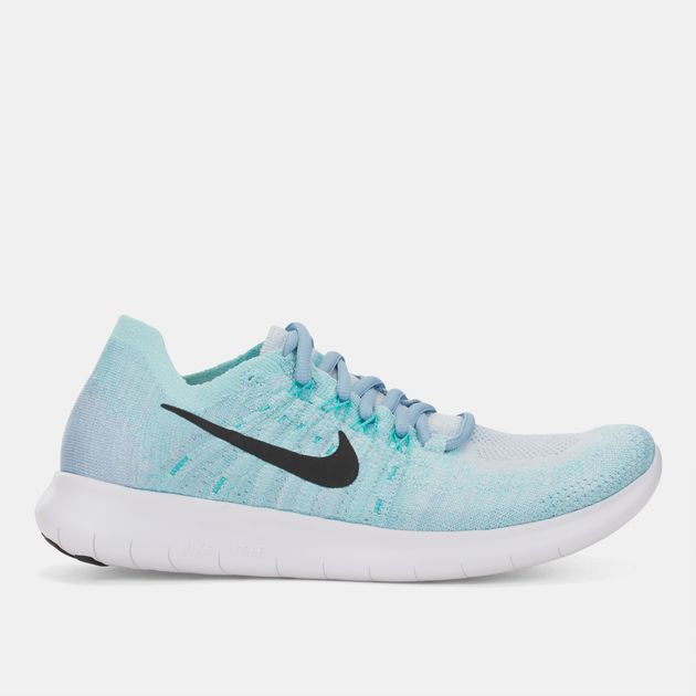 e997a7a1667be Shop Blue Nike Free RN Flyknit 2017 Shoe for Womens by Nike