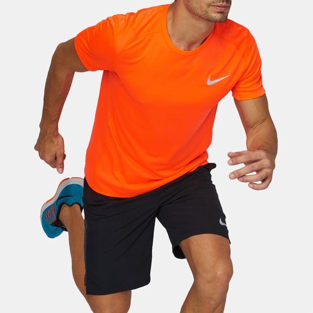 39b41caad4cde Shop Orange Nike Dry Miler Running T-Shirt for Mens by Nike | SSS