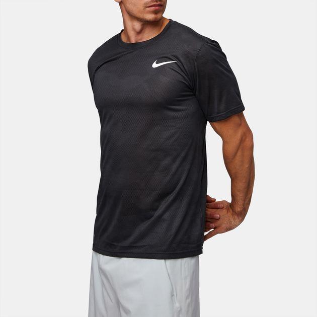 3015345fe08f45 Shop Black Nike Dry Legend Camo Training T-Shirt for Mens by Nike   SSS