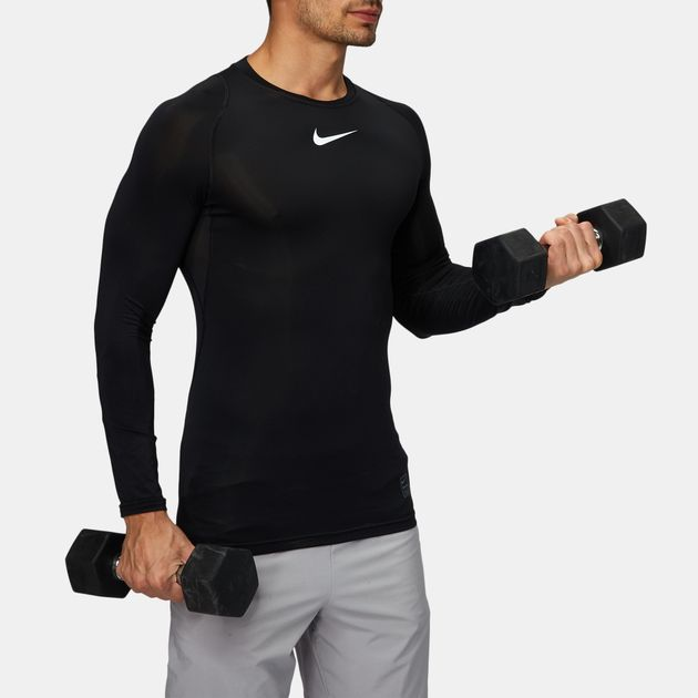 73dd0ba04 Shop Black Nike Compression Long Sleeve Training T-Shirt for Mens by ...