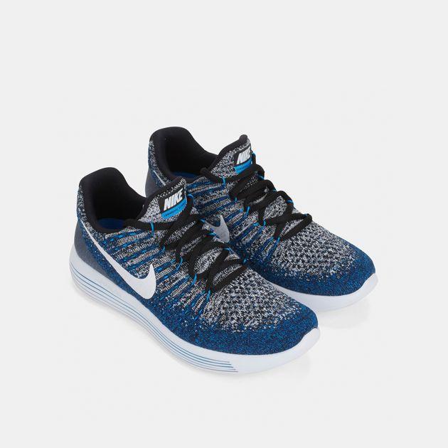 designer fashion 1b223 35db7 Shop Black Nike Kids' LunarEpic Low Flyknit 2 (GS) Running ...