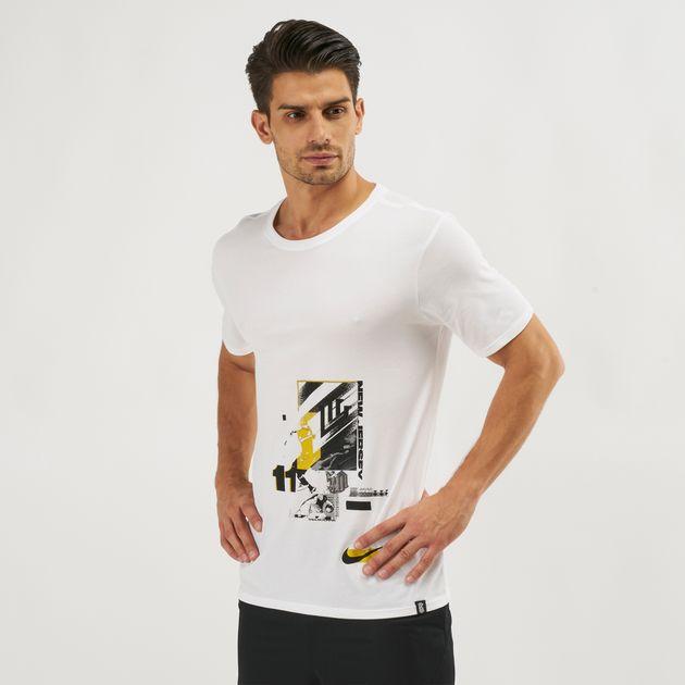 49cdb88e5a98 Shop White Nike Kyrie Dri-FIT Basketball T-Shirt