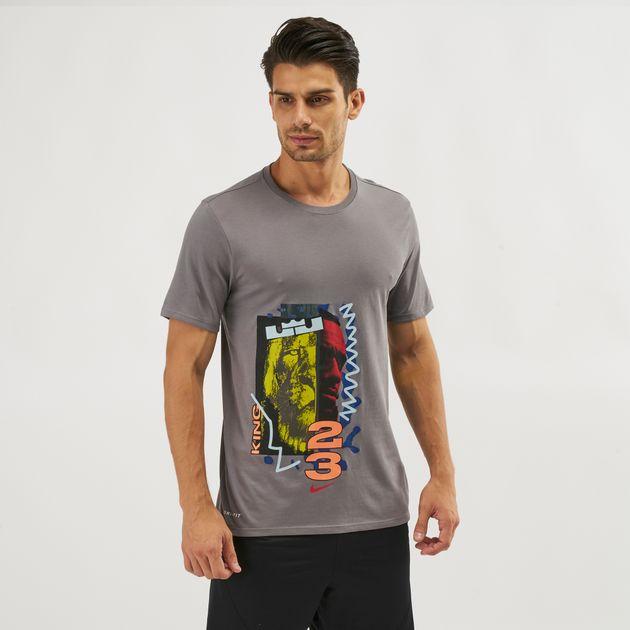 fadbb806c955d Shop Grey Nike LeBron Dri-FIT Basketball T-Shirt