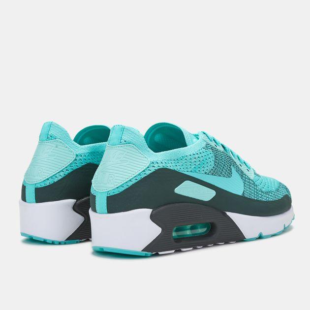 timeless design 1eafa 847fc Shop Green Nike Air Max 90 Ultra 2.0 Flyknit Shoe for Mens ...