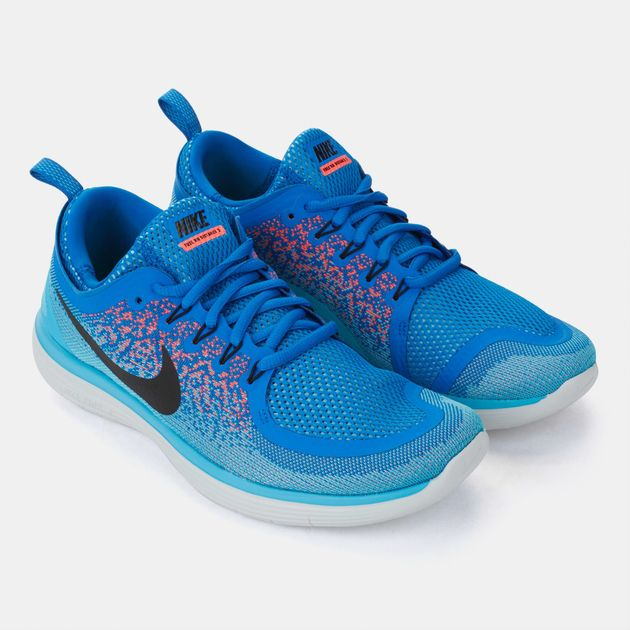 brand new 1add9 cfdc7 Shop Blue Nike Free RN Distance 2 Running Shoe for Mens by ...