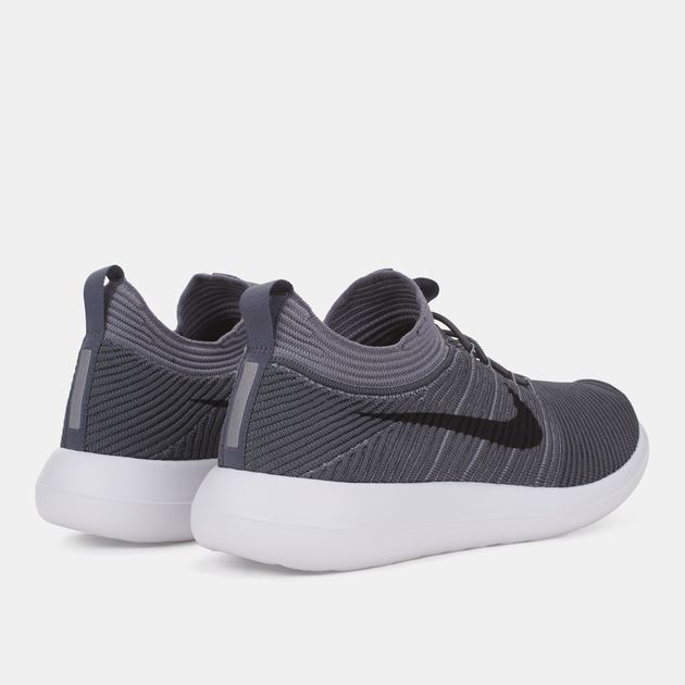 new style 30ee8 f265e Shop Grey Nike Roshe Two Flyknit V2 Running Shoe for Mens by ...