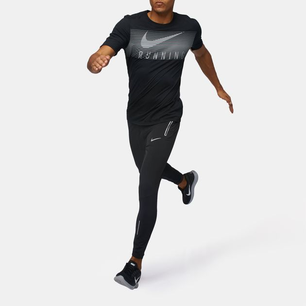 024043713be9a7 Shop Black Nike Swift Running Pants for Mens by Nike | SSS