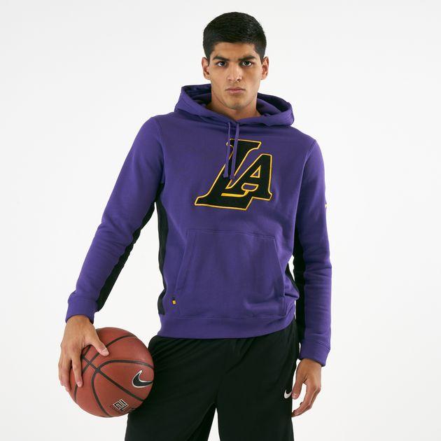 348aa4195ab26 Nike Men's NBA Los Angeles Lakers City Edition Hoodie   Hoodies ...