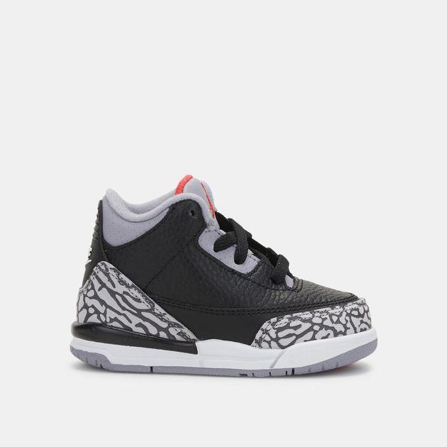 factory authentic 183c0 6f4e0 Shop Black Jordan Kids' Air Jordan 3 OG Retro Black Cement ...