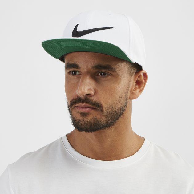 Shop White Nike Swoosh Pro Cap  18c1906c89a
