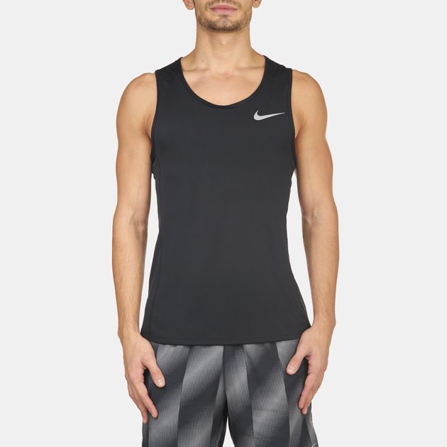 7982e2f89acf4c Shop Black Nike Dry Miler Running Tank Top for Mens by Nike
