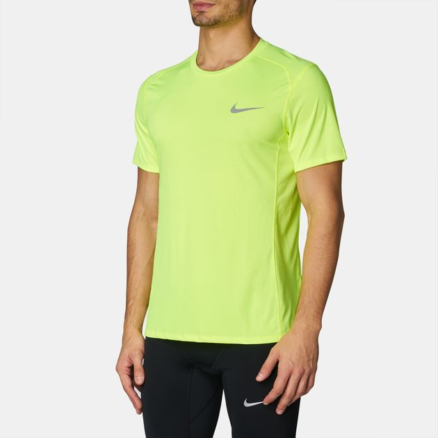 c1d708c9fa038 Shop Yellow Nike Dry Miler Running T-Shirt for Mens by Nike | SSS