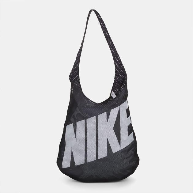 Shop Black Nike Graphic Reversible Gym Tote Bag for Womens by Nike  92b831bf47c65