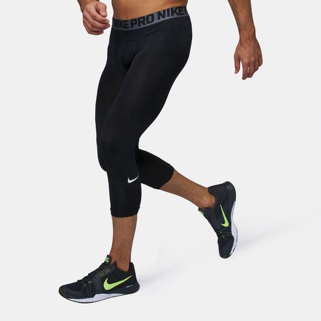 online fashionable and attractive package meet Shop Black Nike Pro Cool Three-Quarter Training Tights for ...