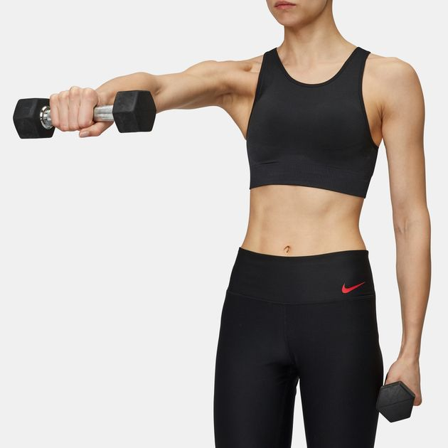 f7c79aa6c1 Shop Black Nike Seamless Light Support Sports Bralette for Womens by ...