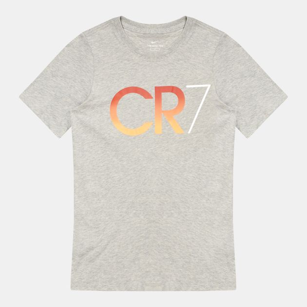 428af07e674 Shop Grey Nike Kids  CR7 Ronaldo T-Shirt for Kids by Nike
