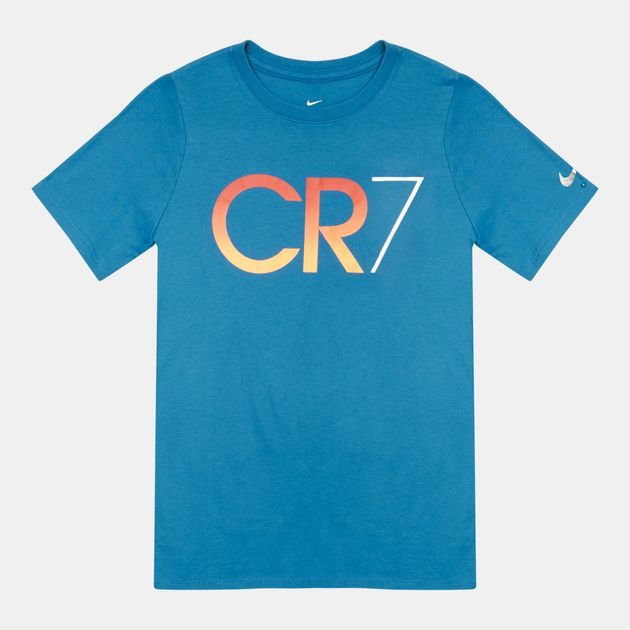 c3fef066fbe Shop Blue Nike Kids  CR7 Ronaldo T-Shirt for Kids by Nike