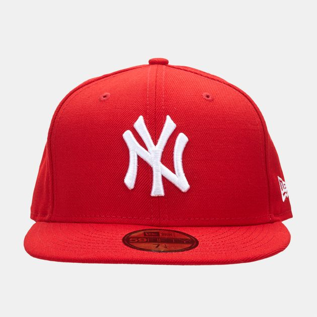 cd5b99756 Shop Red New Era MLB New York Yankees 59FIFTY Cap for Mens by New ...