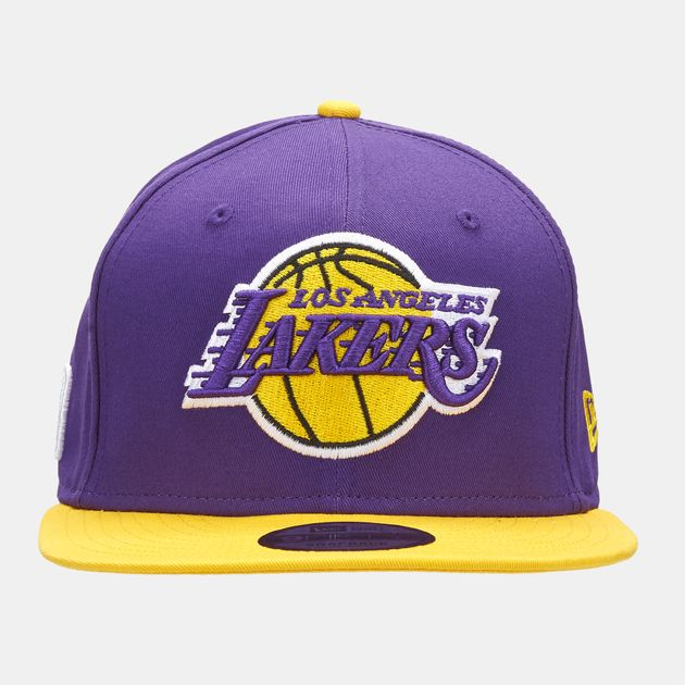 108ad631063 Shop Purple New Era NBA Los Angeles Lakers 9FIFTY Snapback Cap for ...