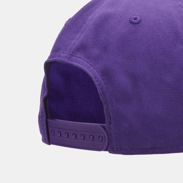 c78b6f51e2d Shop Purple New Era NBA Los Angeles Lakers 9FIFTY Snapback Cap for ...