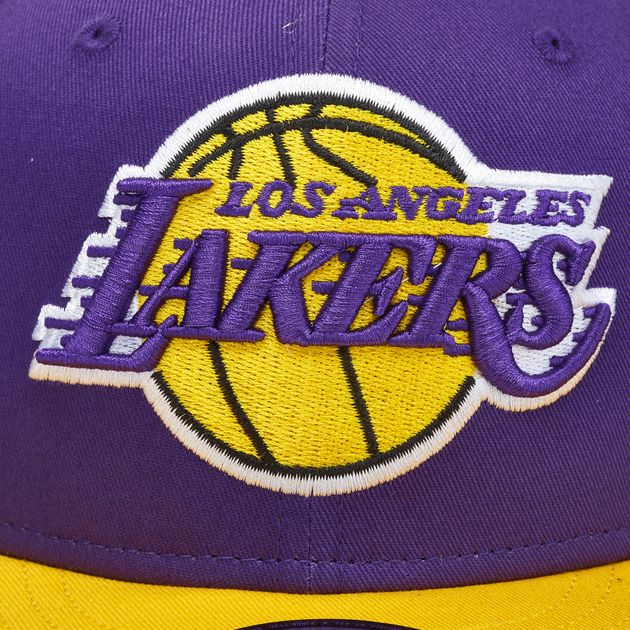 f7bb44865f5 Shop Purple New Era NBA Los Angeles Lakers 9FIFTY Snapback Cap for ...
