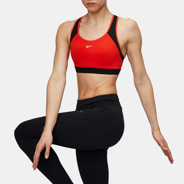 06b05b66d0aa6 Shop Red Nike Motion Adapt High Support Sports Bra for Womens by ...