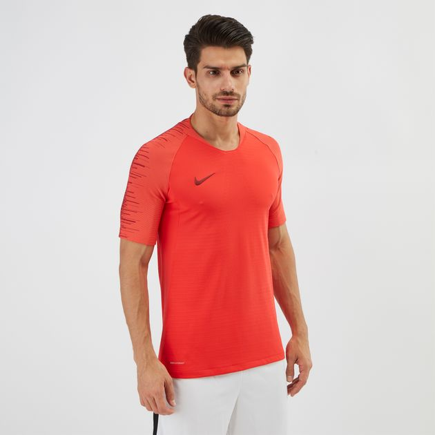 Shop Red Nike VaporKnit Strike Football T-Shirt | T-Shirts | Tops ...