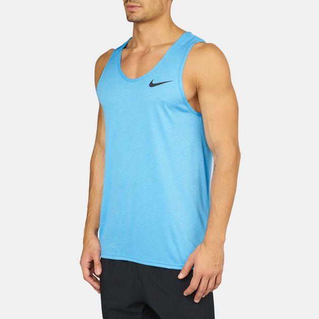 05e748040 Shop Blue Nike Breathe Hyper Dry Tank Top for Mens by Nike | SSS