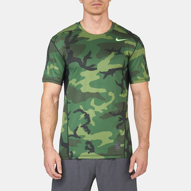 aa4fd218 Shop Green Nike Pro Hypercool Fitted T-Shirt for Mens by Nike | SSS
