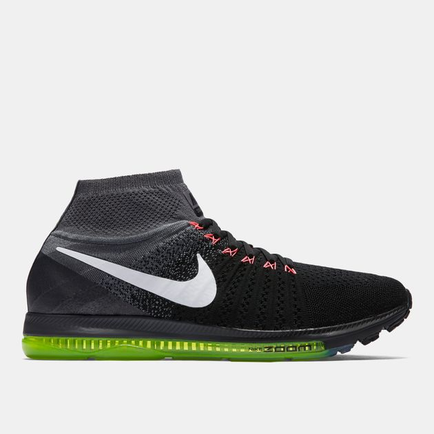 39ca80c0c5b6 Shop Black Nike Air Zoom All Out Flyknit Running Shoe for Mens by ...