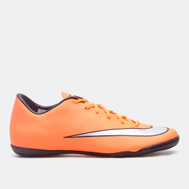 nice shoes new products excellent quality Shop Orange Nike Mercurial Victory V Indoor Court Football ...