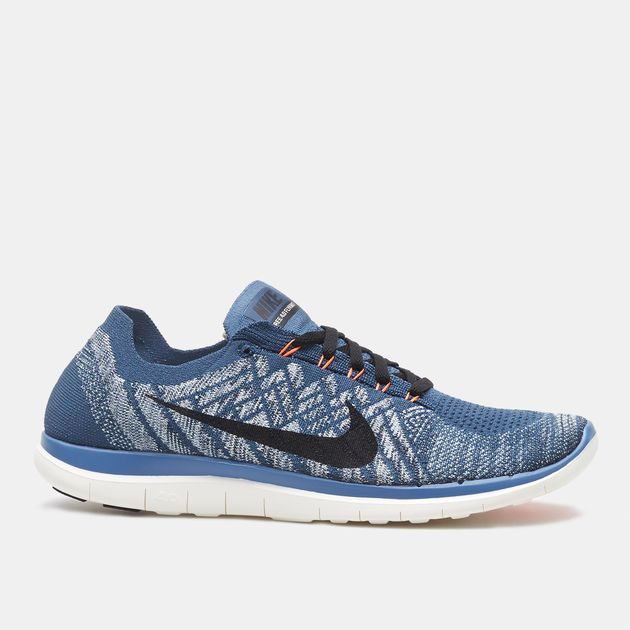 best website 0ab19 d227d Shop Blue Nike Free 4.0 Flyknit Running Shoe for Mens by ...