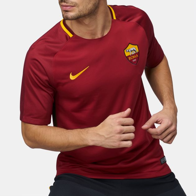 new product 17a2d 3ea57 Nike A.S. Roma Stadium Home Football T-Shirt 2017 18, 767588