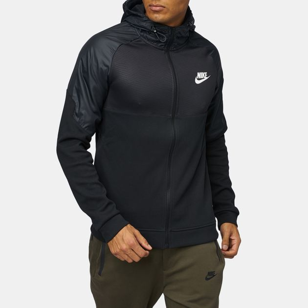 0150d3fb1c7a Shop Black Nike Sportswear Advance 15 Hoodie for Mens by Nike - 3