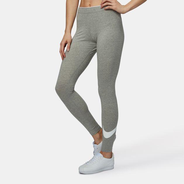 77b39cb850a74d Shop Grey Nike Sportswear Club Logo Leggings for Womens by Nike | SSS