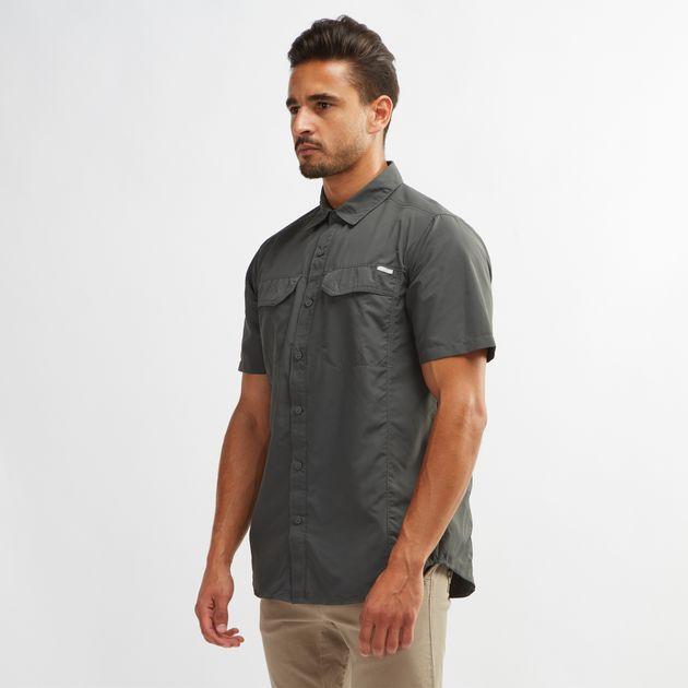 5bbf9cc37dc Shop Green Columbia Silver Ridge™ Short Sleeve Shirt for Mens by ...
