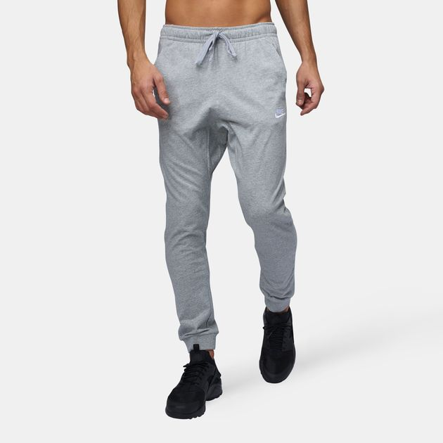 30225e790a1f Shop 41 Nike Sportswear Club Jersey Jogger Pants for Mens by Nike