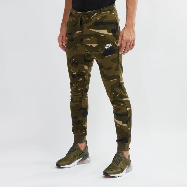 ab2780ffd Green Nike Sportswear Club Camo Joggers | Track Pants | Pants ...