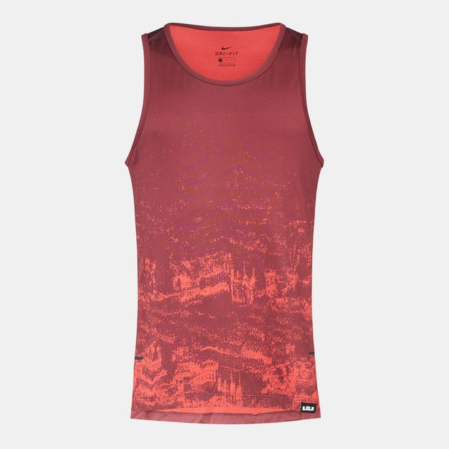 ecf87bcc24719 Shop Red Nike Dry LeBron Basketball Tank Top for Mens by Nike