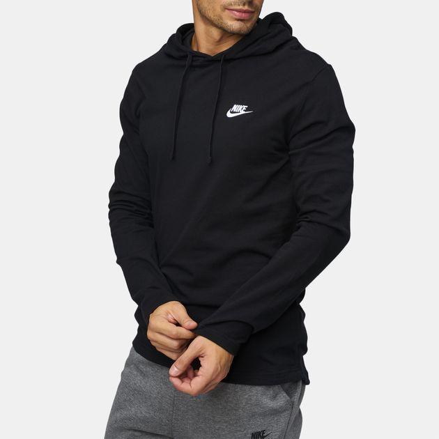 d7dd8c039 Shop Black Nike Sportswear Club Pullover Hoodie for Mens by Nike | SSS