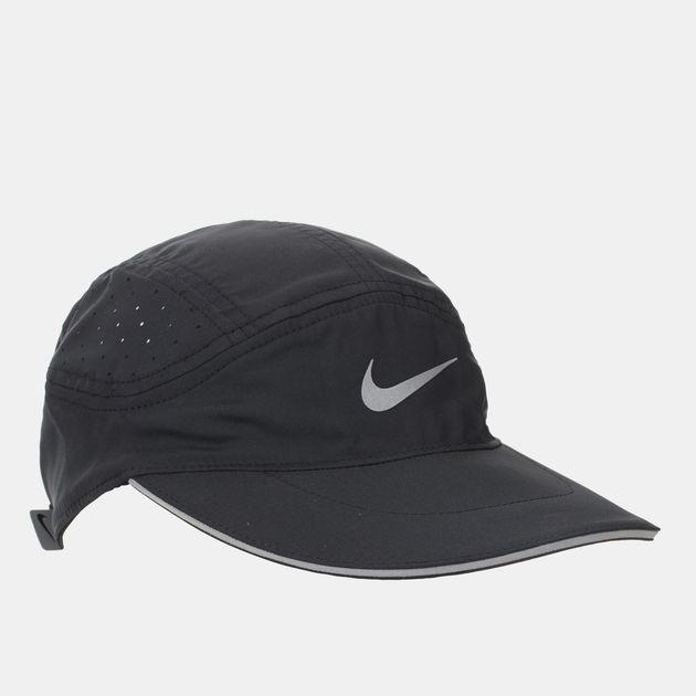 Shop Black Nike AeroBill Running Cap for Unisex by Nike  0e4f332eb0ae