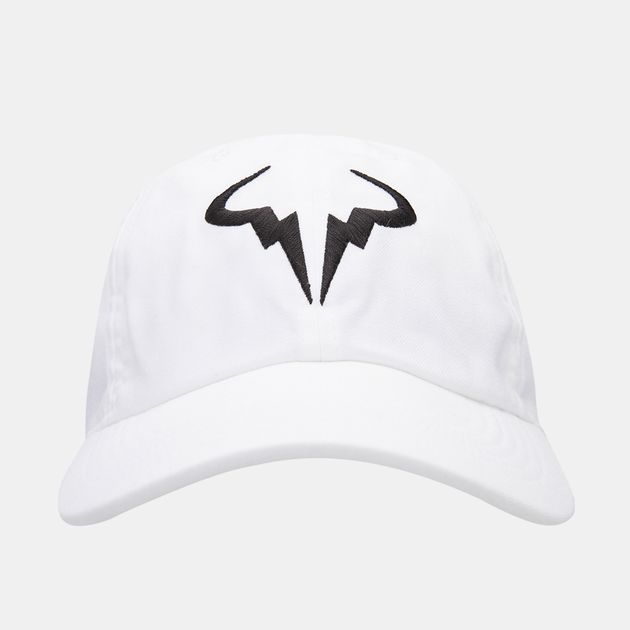 ad281c6748f5c Nike Court Men s AeroBill H86 Rafa Tennis Hat - White