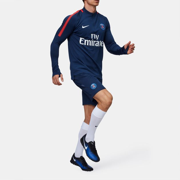 3f64e5abc Shop Blue Nike Paris Saint-Germain Dri-FIT Squad Drill Long Sleeve T ...