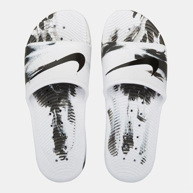 97edec44002 Shop White Nike Kawa Shower Marble Sandals for Mens by Nike
