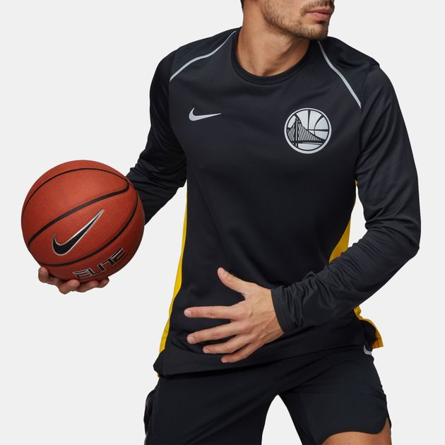 Shop Black Nike NBA Golden State Warriors Hyper Elite Long Sleeve T ... 9a360433506