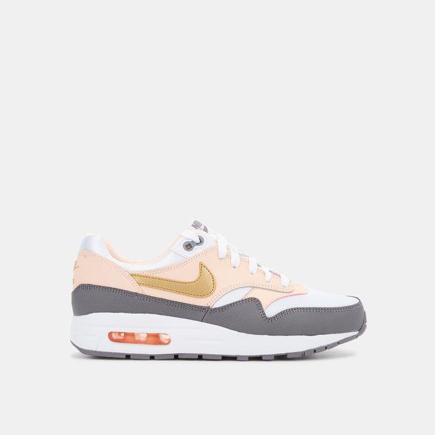 f6fa950f0e White Nike Kids' Air Max 1 Shoe (Grade School) | Sneakers | Shoes ...