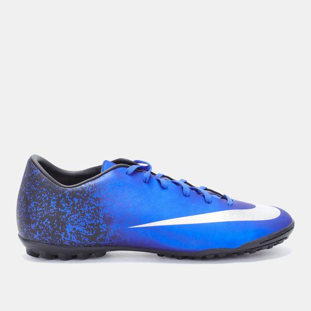 cheap for discount 8e59e 66953 Shop Blue Nike Mercurial Victory V Turf Football Shoe for ...