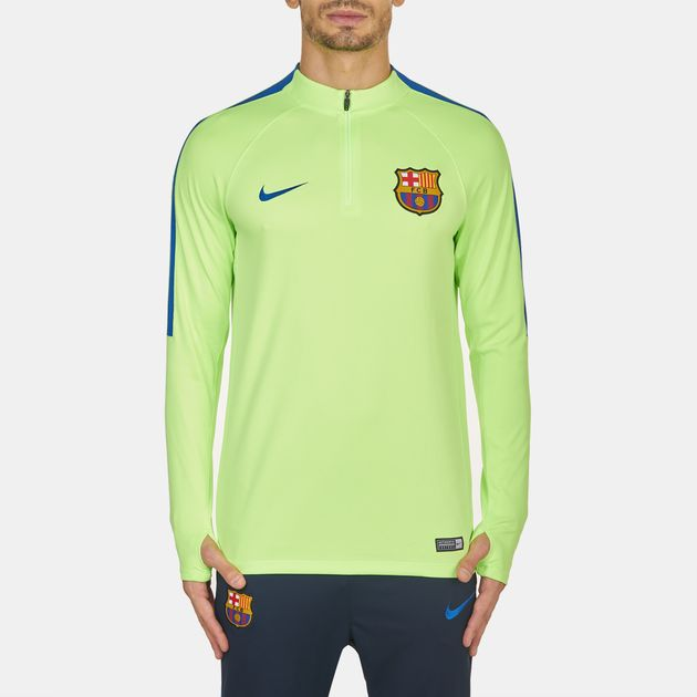 a42e1c37050 Shop Green Nike FC Barcelona Drill Long Sleeve T-Shirt for Mens by ...