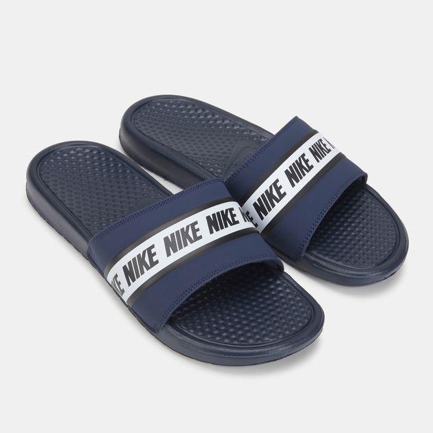 release date: pre order good service Nike Benassi Sandals   Slides   Sandals & Flip-Flops   Shoes ...